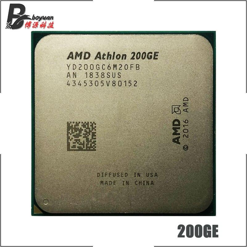 AMD Athlon 200GE X2 200GE 3.2 GHz Dual-Core Quad-Thread CPU Processor YD200GC6M2OFB Socket AM4 ch Store