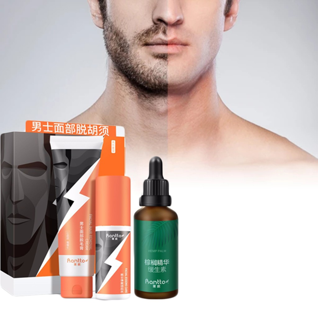 Men Permanent Hair Removal Creamclean Shave The Beard Hair