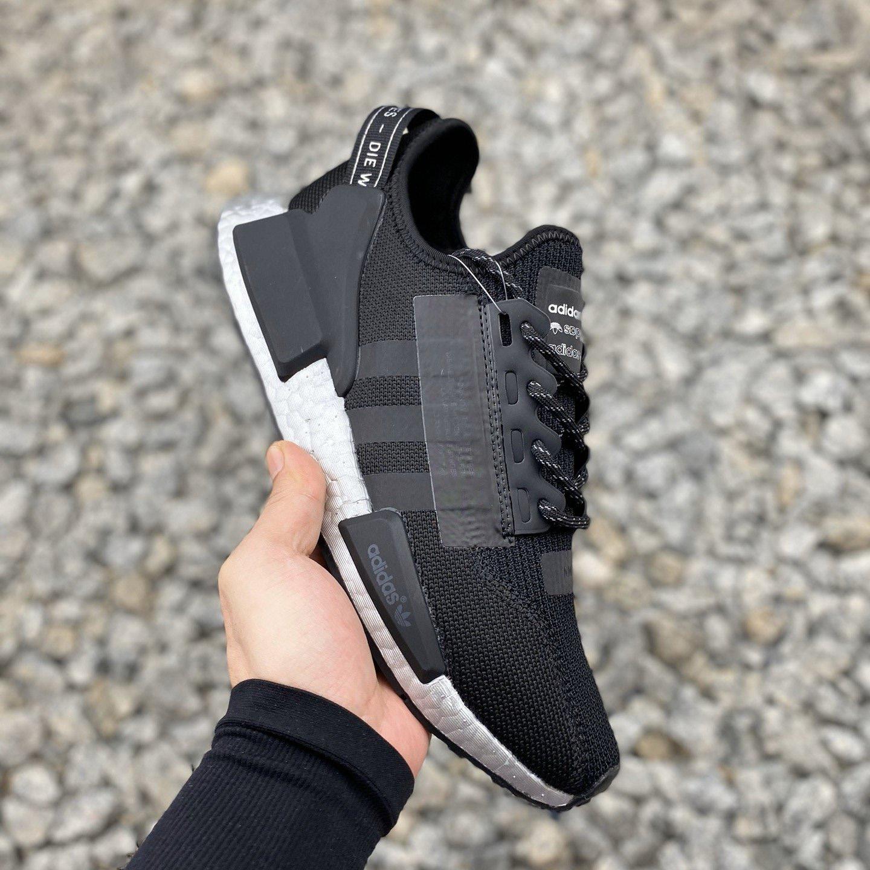 Adidas Originals Boost Nmd R1 V2 Black Red Blue Men S Shoes