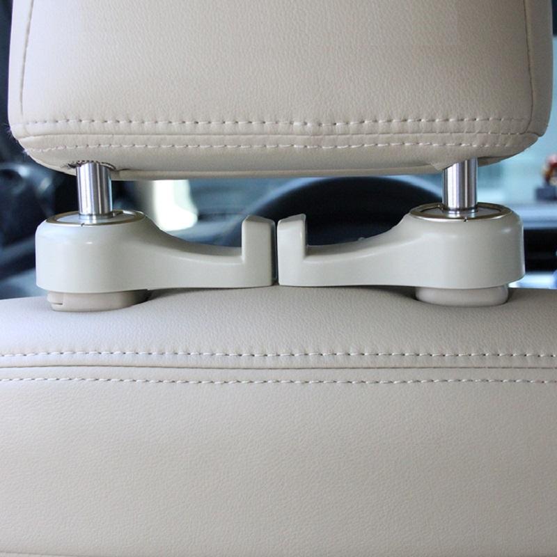Space Saver Accessories for Storage HOME-X Bag Holder Car Mounts 2 Headrest Hooks