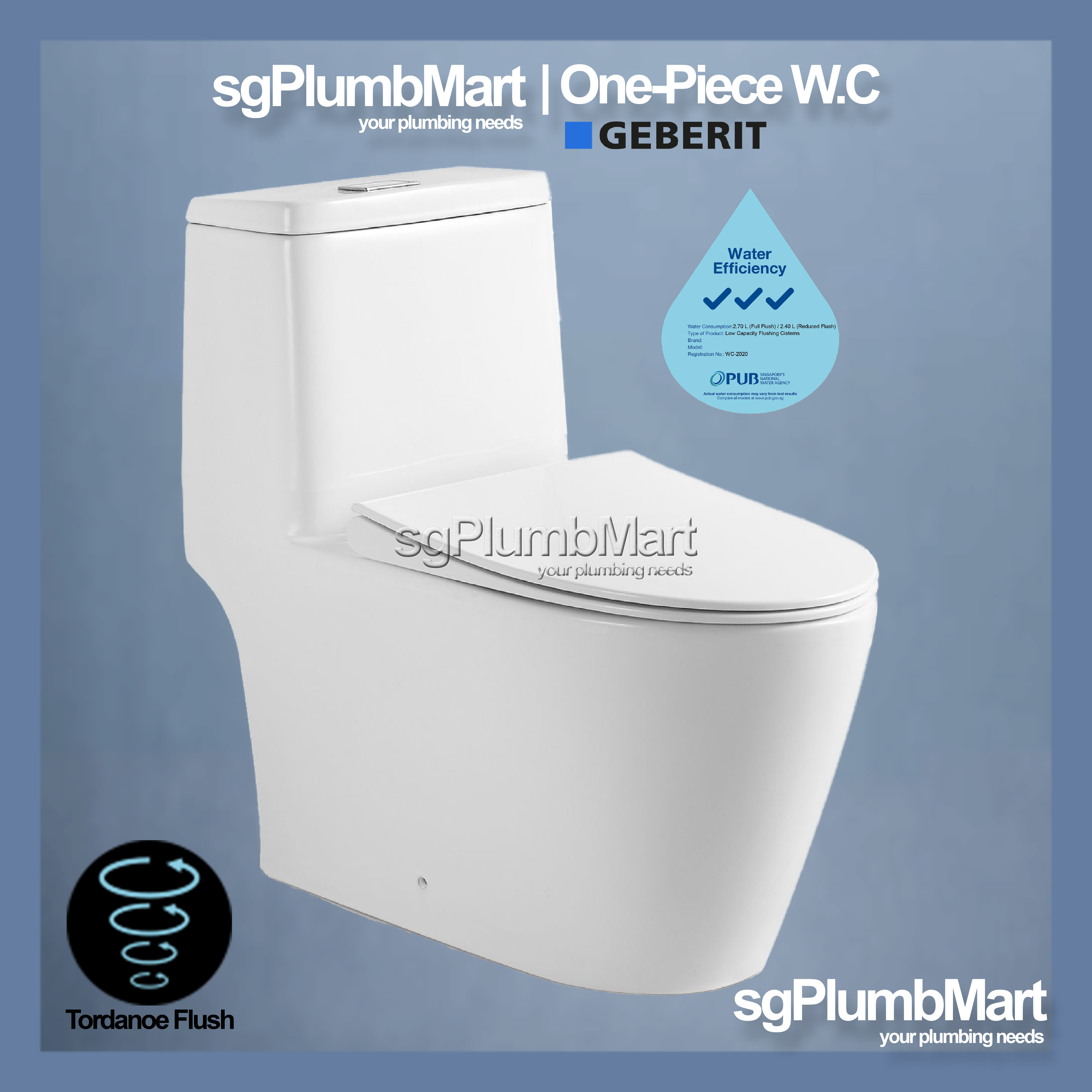 Picture of: Tornadoe Geberit Flushing System 1 Piece Toilet Bowl One Piece Wc Lazada Singapore