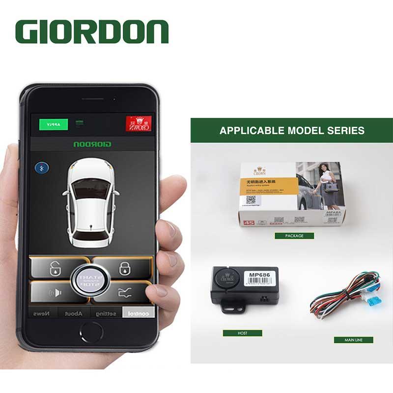 Car Anti-Theft Device Alarm System with Flip Key Remote Control Security Alert