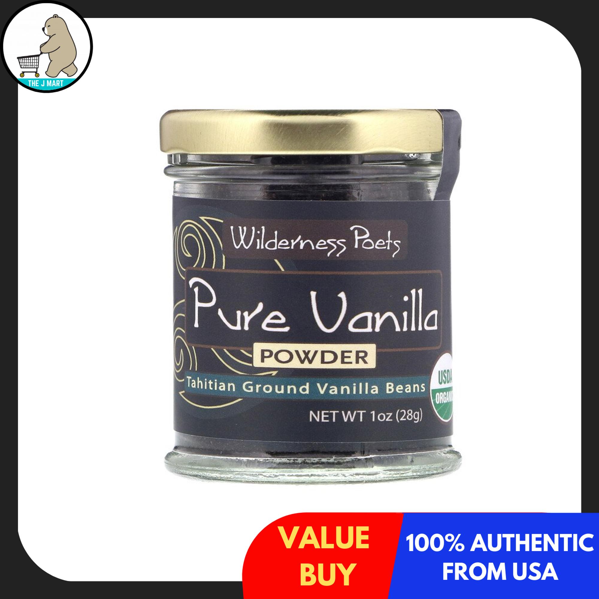 Wilderness Poets, Pure Vanilla Powder, Tahitian Ground Vanilla ...