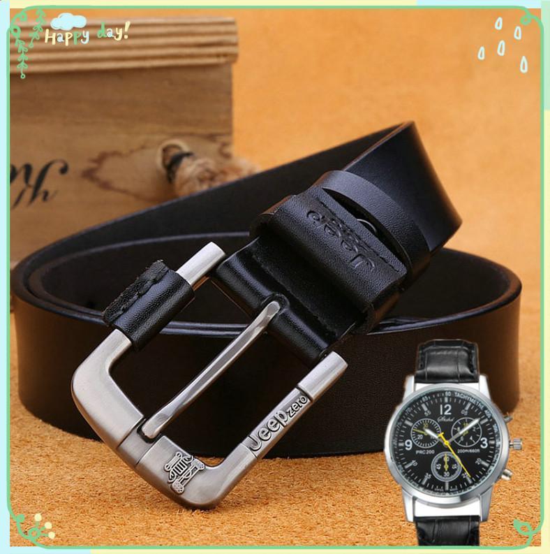 Fashion Men Belt  Genuine Leather  Belts for Men Vintage Male Dress Jeans Strap