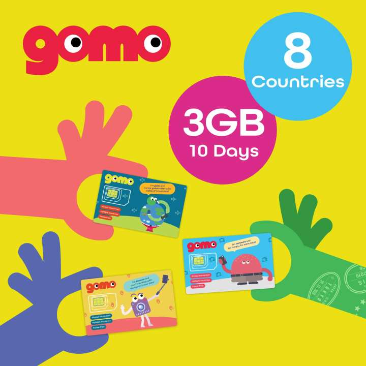 GOMO 4G Travel SIM 3GB/10 days Aust/Msia/Thailand/Philippines/TW/HK/Macau/Indo