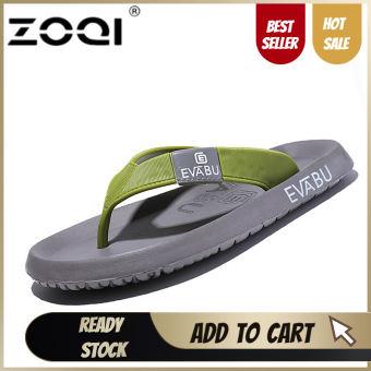 ZOQI รองเท้าแตะผู้ชายรองเท้าแตะชายหาดรองเท้าแตะสำหรับผู้ชายและผู้หญิงรองเท้าฤดูร้อนรองเท้าแตะผู้ชายรองเท้าแตะ (สีเทาสีเขียว) - นานาชาติ