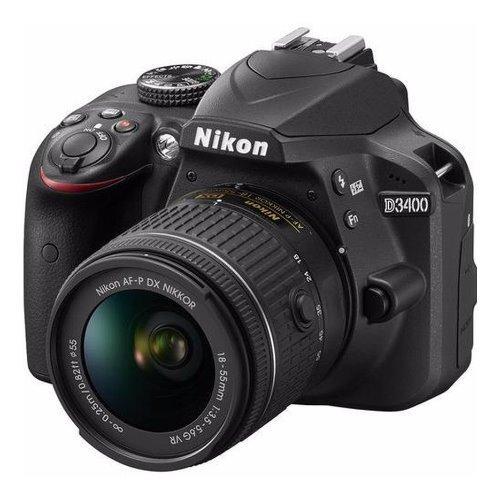 Nikon D3400 with AFs18-55mm VR Kit black -warranty