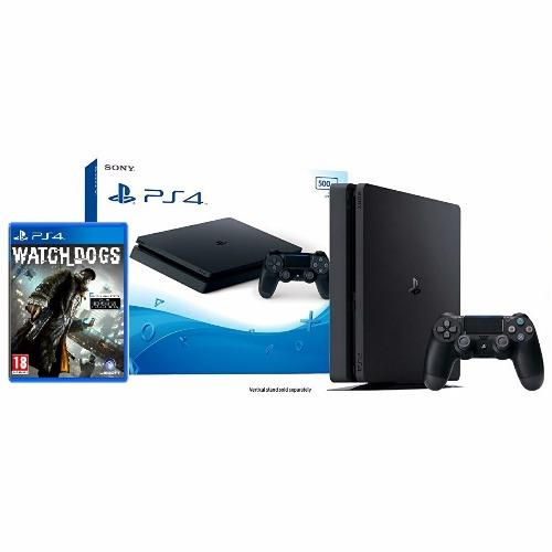 Playstation 4 slim console PS4 (500GB) + Watch Dogs game