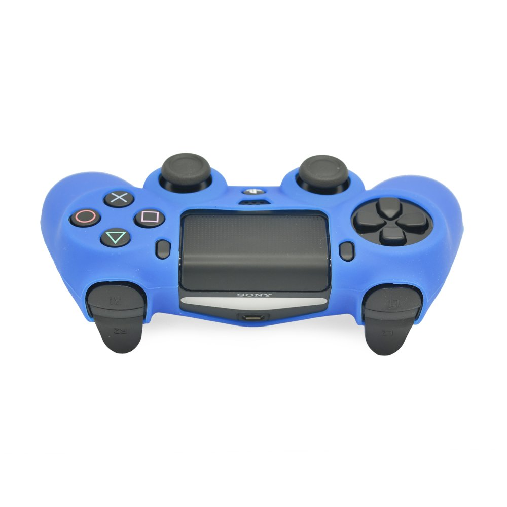 Silicone Rubber Skin Grip Case for PlayStation 4 PS4 Controller Dark Blue