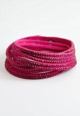 Suede Pink Double Bracelet